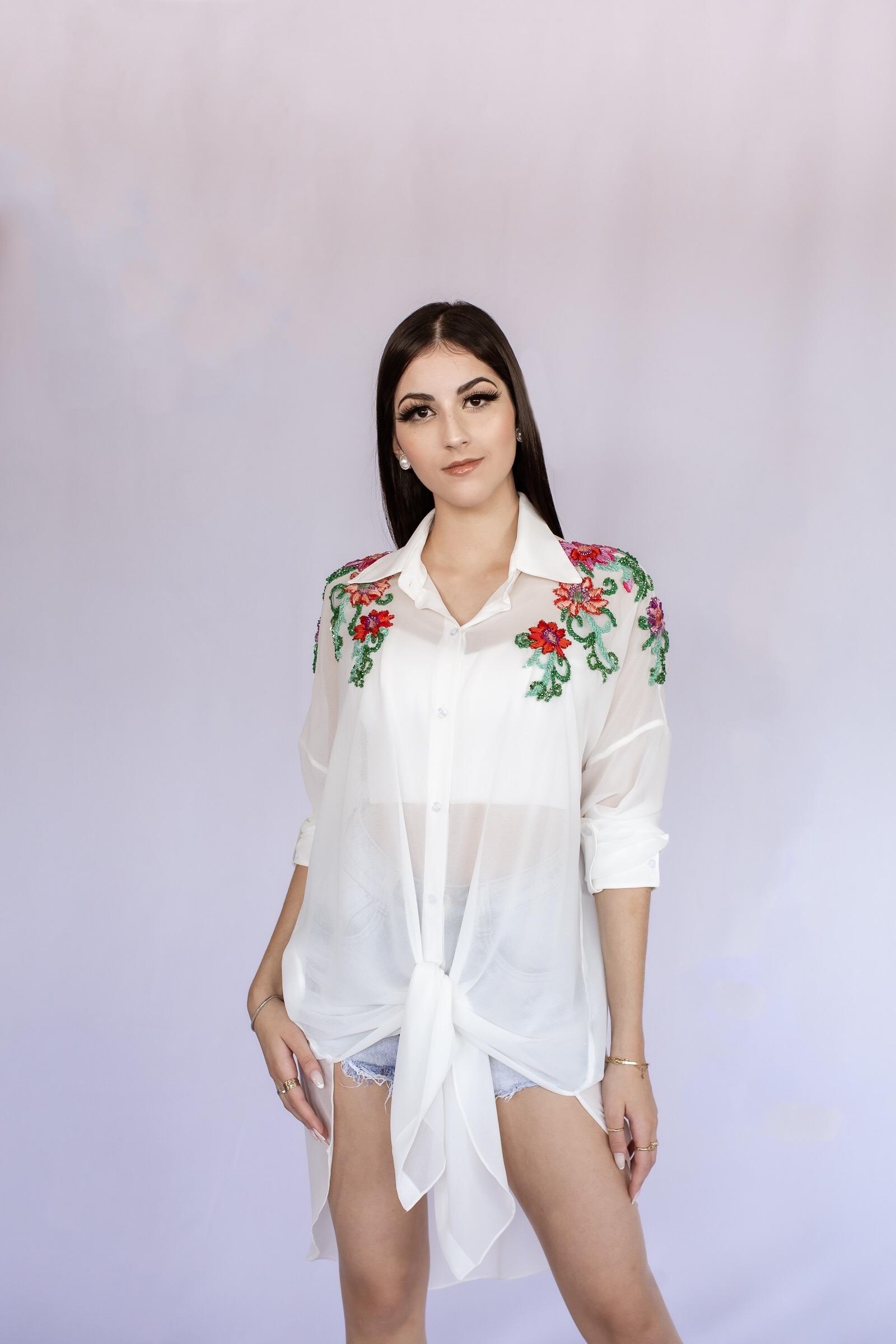 Blusa Elisa Candy Bordada - Atelier Fernanda Baião Alta Costura, Estilista Ubá e Juiz de Fora